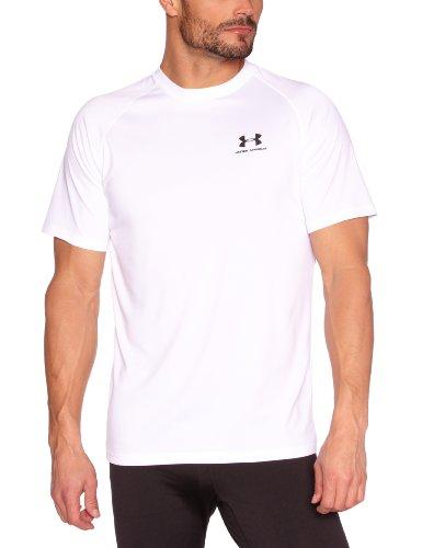Under Armour Herren Shirt New EU Tech Short Sleeve Tee, White/Black, M
