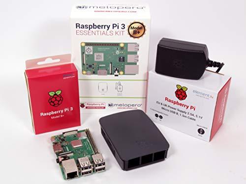 Raspberry Pi 3 Model B+ Official Essentials Kit Black