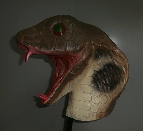 Schlange Kobra Voller Kopf Latexmaske Kostüm Reptil Halloween (Maske Erwachsene Reptil Kostüme)