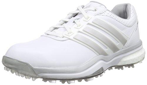 adidas Adipower Boost 2, Chaussures de Golf Femme, Blanc-Weiß (White/Matte Dark Silver Metallic),...