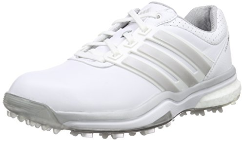 adidas Damen Adipower Boost 2 Golfschuhe Weiß (White/Matte Dark Silver Metallic), 40 2/3 EU