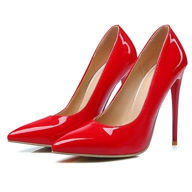 WSX&PLM Da donna-Tacchi-Matrimonio Formale Serata e festa-Cinturino-A stiletto-PU (Poliuretano)-Nero Giallo Rosa Rosso Bianco Tessuto almond white