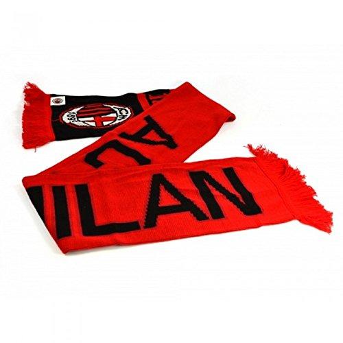 AC Milan Official – Bufanda de jacquard Nero