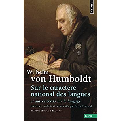 Sur le caractere national des langues ecrit sur le langage