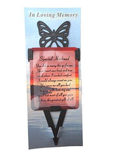 Mann Memorial laminierter Karte mit Schmetterling dem Spiel Halter und besondere Nachricht von ', plastik, sunset (Dem Engel-karten Nachrichten Aus)