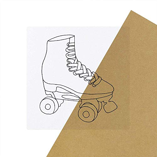 6 x 'Rollschuh' Transparente Aufkleber / Stickers (SK00031641)