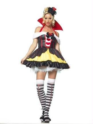 Leg Avenue - Königin der Herzen Kostüm - XL - 3-teilig - Rosa/Schwarz - (Kostüm Xl Herzen Der Königin)