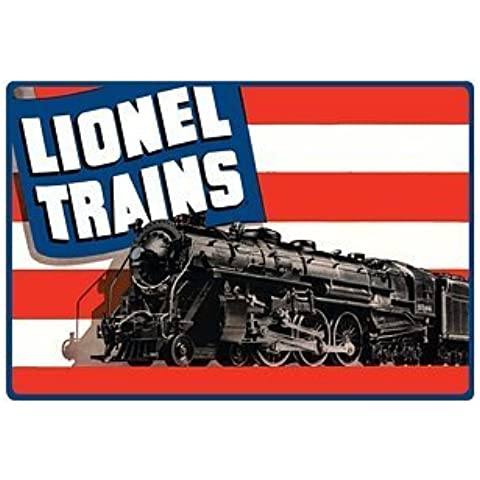 Lionel Trains American Flag Embossed Tin Sign by Poster Revolution