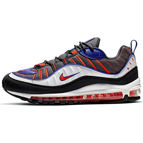 Nike Herren Air Max 98 Leichtathletikschuhe, Mehrfarbig (Gunsmoke/Team Laser Orange/White 000), 43 EU