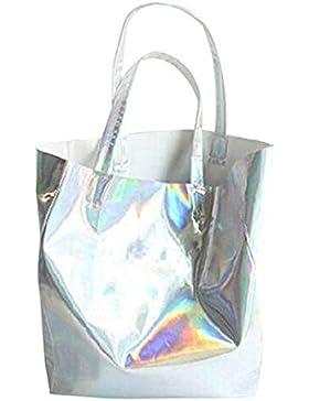 Millya grande borsa a tracolla in pelle PU con imbottitura removibile per uomini e donne