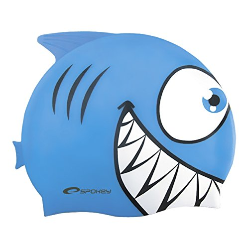 Spokey rekinek, cuffia da piscina bambino, blue, taglia unica