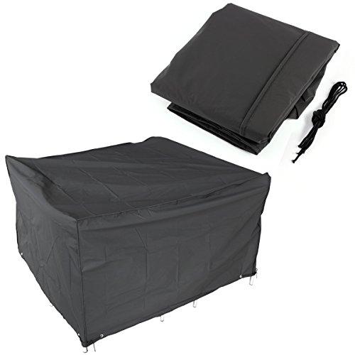 Patio-möbel-set Abdeckung (Garten Patio-Möbel Set Abdeckung Cube Wasserdicht Tisch Stuhl Shelter (W) 120cm x (D) 120cm x (H) 74cm)
