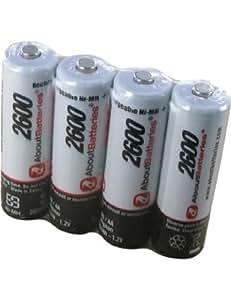 Batterie type TOUTES APPLICATIONS R6/AA, Blister de 4 accus, 1.2V, 2600mAh, Ni-MH