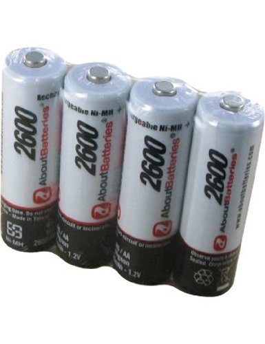 Akku für CANON POWERSHOT A710 IS, Blisterpackung mit 4 Akkus, 1.2V, 2600mAh, Ni-MH A710 Batterie