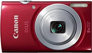 """Canon Ixus 145 Appareil photo numérique compact 16 Mpix Écran LCD 2,7"""" Zoom optique 8X Rouge"""