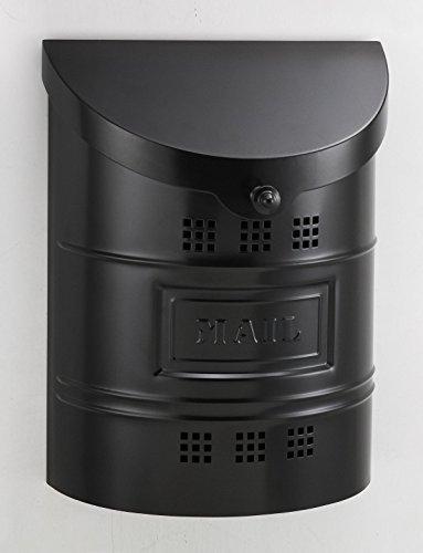 Ecco E2 Mailbox - E2BK Large Satin Black Wall Mailbox by ECCO - Ecco Satin