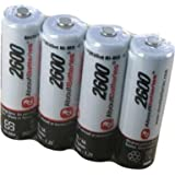 Batterie pour MULTIMARQUES PILES AA, Blister de 4 accus, 1.2V, 2600mAh, Ni-MH