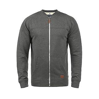 Blend Arco Men's Zip Up Sweater Zipper Jacket with High-Neck, Size:XXL, Colour:Pewter Mix (70817)