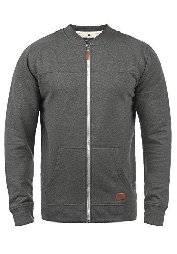 Blend Arco Herren Sweatjacke Collegejacke Cardigan Jacke Mit Stehkragen, Größe:L, Farbe:Pewter Mix (70817)