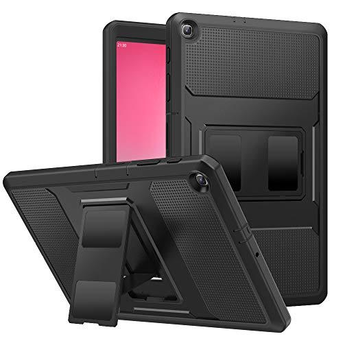 MoKo Hülle Angepasst für Galaxy Tab A 10.1 2019, [Heavy Duty] Ganzkörper-Rugged Hybrid Stand Cover Schutzhülle mit Integriertem Bildschirmschutz Ideal für Galaxy Tab A 10.1