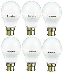 Crompton 7WDF-CDL-BI 7-Watt B22 Base LED Bulb (Pack of 6, Cool Day Light)
