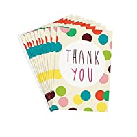 Multi Coloured Dotty Thank You Note Cards by Caroline Gardner (PQE164)