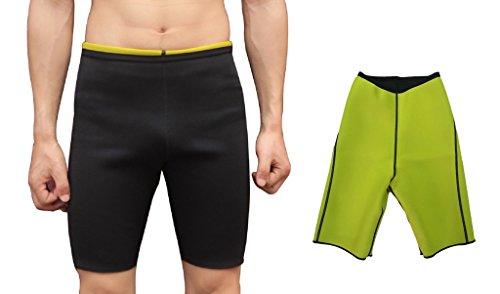 Novecasa canotta/pantaloni sauna uomo neoprene sauna adatta pantaloncini body shaper perspire ginnastica per sudare, bruciare i grassi, cintura addominale che dimagrisce (xl, pantaloncini)