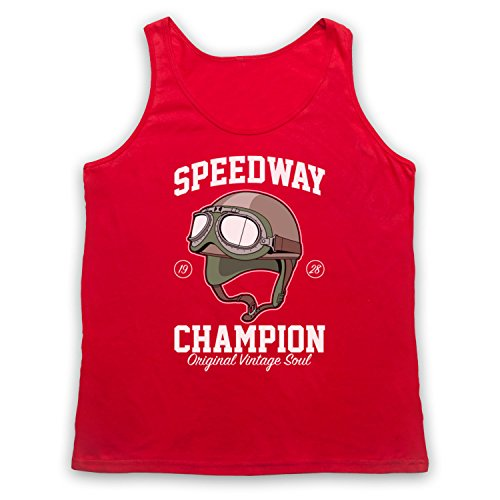 Speedway Champion Original Vintage Soul Tank-Top Weste Rot