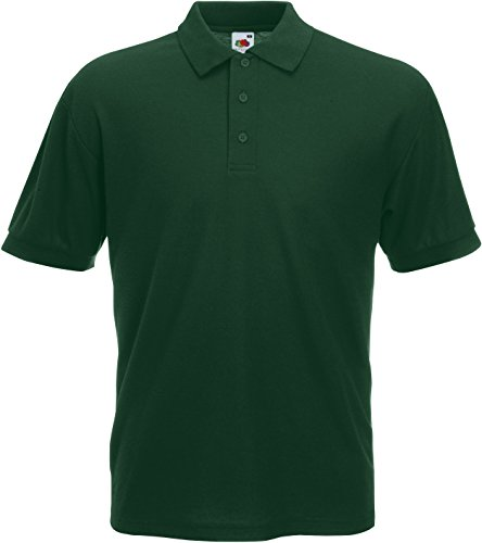 Fruit of the Loom Pique Polo Shirt SIZE 3XL COLOUR Bottle
