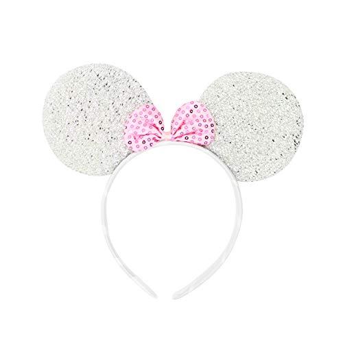 Micky Minnie Maus Ohren, Haarband, Haarband, Kostüm, 12 verschiedene Farben (Halloween Kostüme In Verschiedenen Ländern)