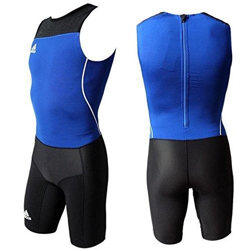 Adidas WL Suit M Herren Leichtathletik Weightlifting Einteiler Anzug Overall blau-schwarz