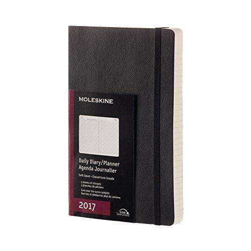 Moleskine Tageskalender, Taschenkalender, 12 Monate 2017, Groß, A5, Soft Cover, schwarz (Notebook-design Moleskine)
