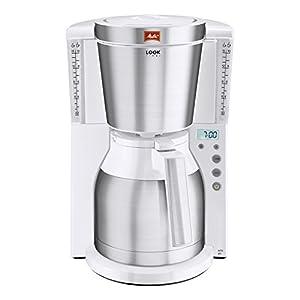Melitta Kaffeefiltermaschine Look Therm Timer, Kalkschutz, Timer, weiß/Edelstahl 101115
