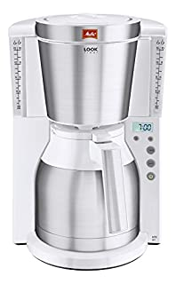 Melitta Kaffeefiltermaschine Look Therm Timer, Kalkschutz, Timer, weiß/Edelstahl 101115 (B00R7HKJFU) | Amazon price tracker / tracking, Amazon price history charts, Amazon price watches, Amazon price drop alerts