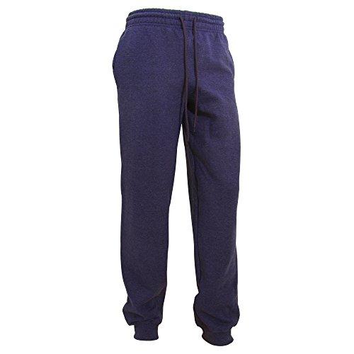 Gildan Herren Heavy Blend Jogging Hose/Sporthose mit Bündchen (L) (Marineblau) -
