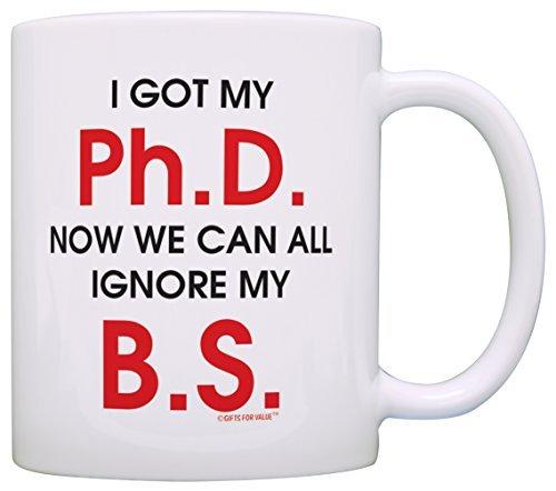 Regalo laureato Got My Ph. D. Ora possiamo accendere il mio B.S. Tazza da tè o caffè 11 ounce Infradito colorati estivi, con finte perline