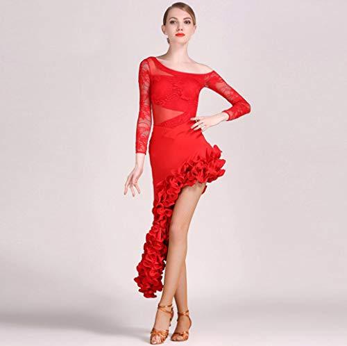 Z&X Latin-LUN Tanzkleid BA-Ba Tanz Ballett Kleid Mädchen Kleid Performance Anzug/Rock Kleid Kostüme Langarm Trikot Bekleidung/Hohe Qualität Milch Seide Lace,L