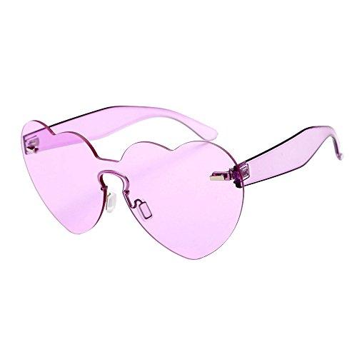 Damen Herren Sonnenbrillen Retro Herzförmige Shades Cateye Sonnenbrille Plastik Rahmen Integrierte UV Candy Coloured Gläser (Herzförmige I)
