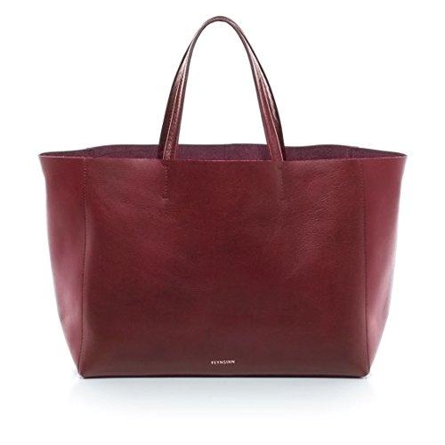 """FEYNSINN® Handtasche mit langen Henkeln JAX - Damen Schultertasche groß Ledertasche fit für 13 """" Zoll Laptop, iPad - Handtasche Damentasche echt Leder marsala"""