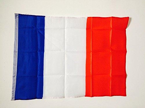 Acheter en ligne EURO 2016 : Drapeau Français de supporter 60 x 90 cm avec couture double pour hampe