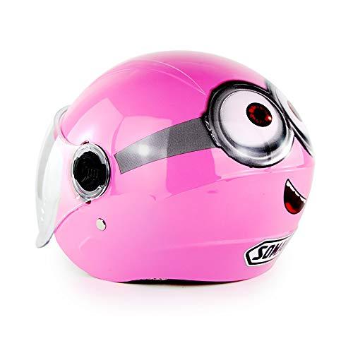 XYL Casco per Moto per Bambini/Giovani 6 Anni - 12 Anni Leggero Casco da Ciclismo Forma di Cartone Animato Multi-Sport Articoli Sportivi di Sicurezza Ragazz