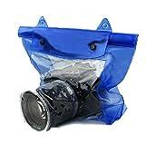 Vlook Bolsa Impermeable para cámara réflex Digital DSLR de 3 Piezas, Estuche para Caja bajo el Agua, con Tira de Sellado, portátil y fácil de Usar, para la mayoría de los Estilos de cámaras