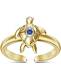 AG2AU 925 Sterling Silver Toe Ring - Turtle