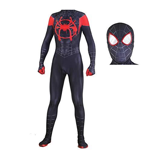 Schwarz Geeignet Spider Girl Kostüm - ZHANGQI Schwarzes Kleines Spider-Man-Halloween-Kostüm Parallel Universe