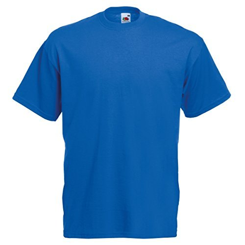 Foto de Fruit Of The Loom 61036 Mens Short Sleeve Valueweight T-Shirt Tee - Royal - X-Large