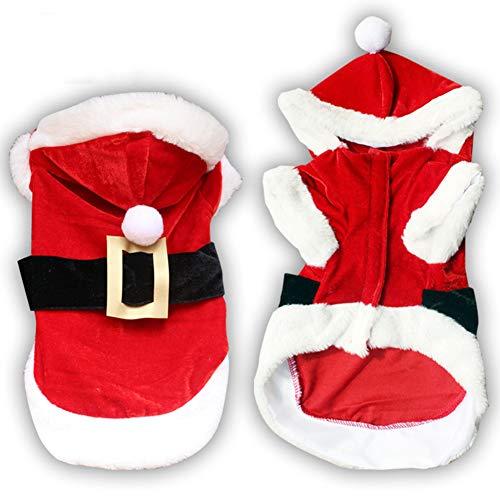 idung für Kleine Hunde Santa Hund Kostüm Haustier Mantel Pudel Yorkies Chihuahua Kleidung ()