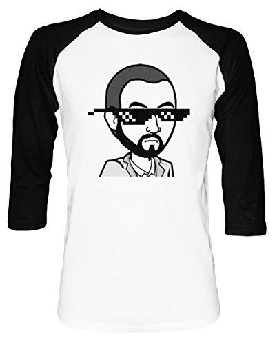 MudRacing Sonnenbrille - Mudracing Herren Damen Unisex Baseball T-Shirt Weiß Schwarz 2/3 Ärmel Women's Men's Unisex