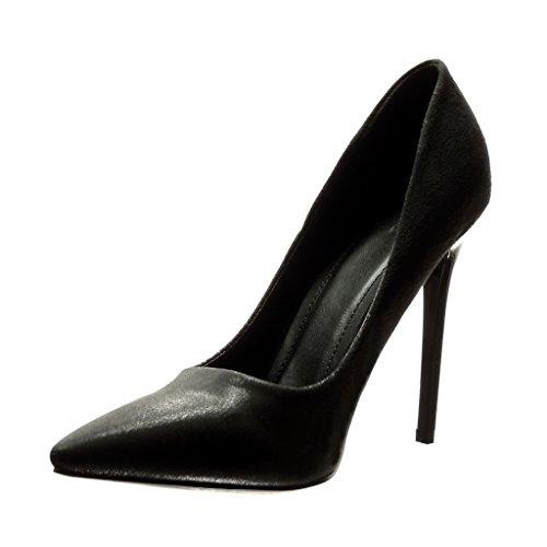 11 aiguille haut Escarpin Angkorly femme Mode CM Noir sexy stiletto Chaussure brillant Talon azqvCH