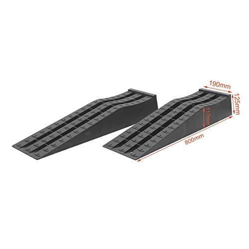 Rampes de service de voiture d'atelier de garage en plastique résistant de KATSU 2PCS (profil bas)