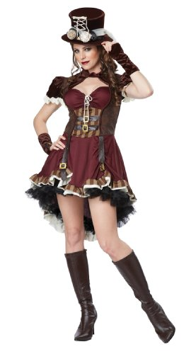 California Costumes Steampunk Damenkostüm Bordeaux XL ()